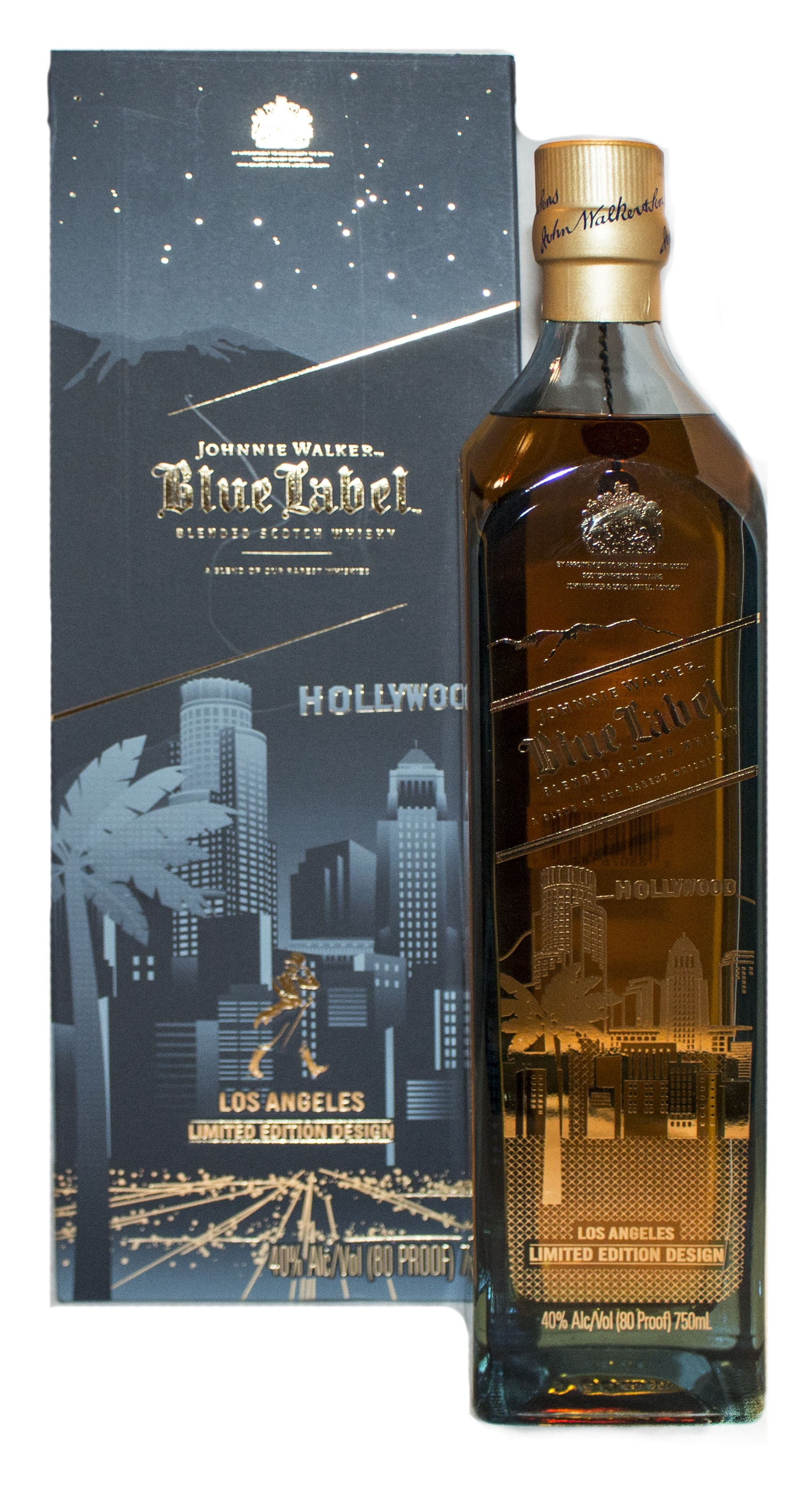 Johnnie Walker Blue Label Los Angeles Hollywood 0,75 l