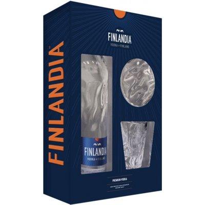 Finlandia 40 % 0,7 l (dárkové balení) (dárkové balení 2 skleničky)