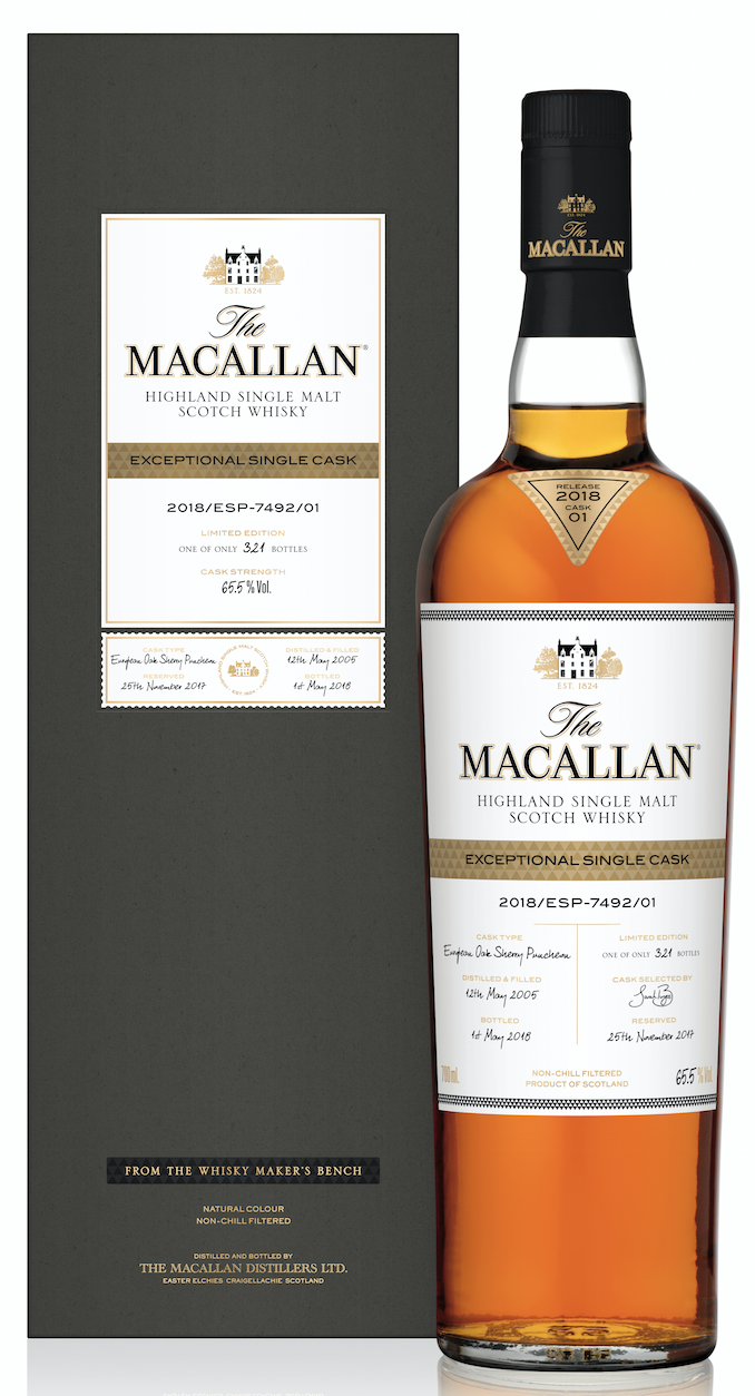 Macallan Exceptional Single Cask 65,5% 2018/ESP - 7492/01 0,7 l
