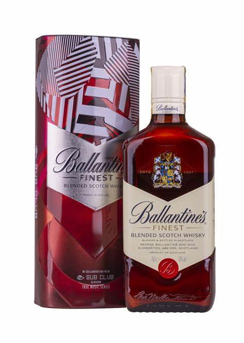 Ballantines Finest plech 40% 0,7l (holá láhev)