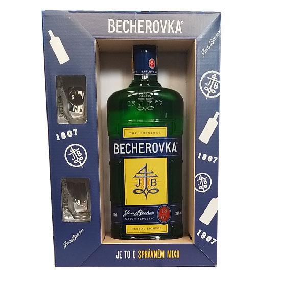Becherovka 0,7l v dárkové kazetě