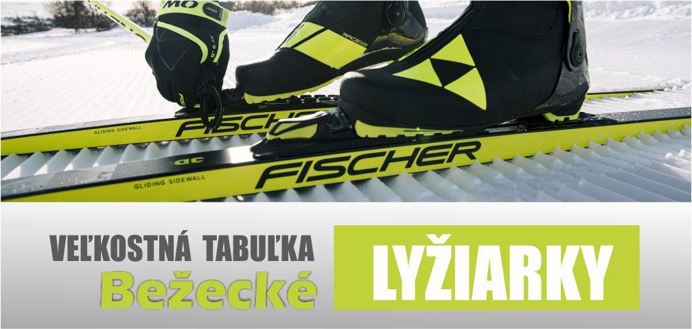 Veľkostná tabuľka - Bežecké lyžiarky