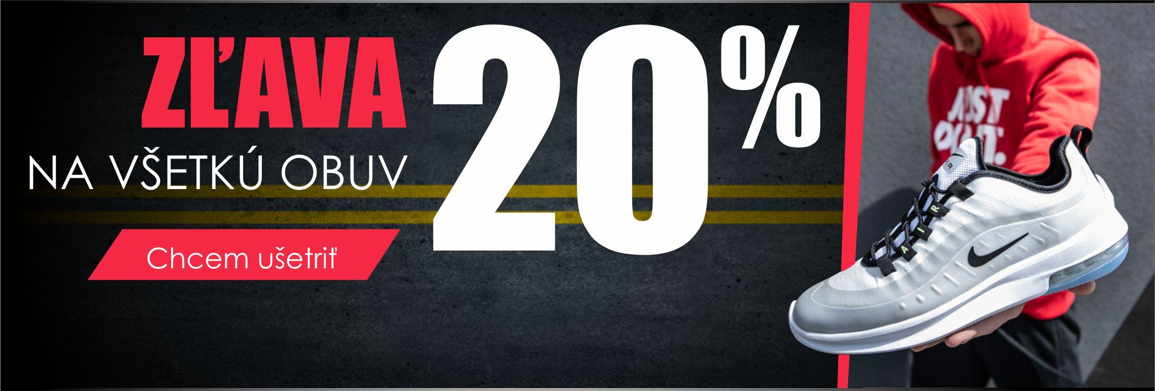 vypredaj obuv 20% STEP
