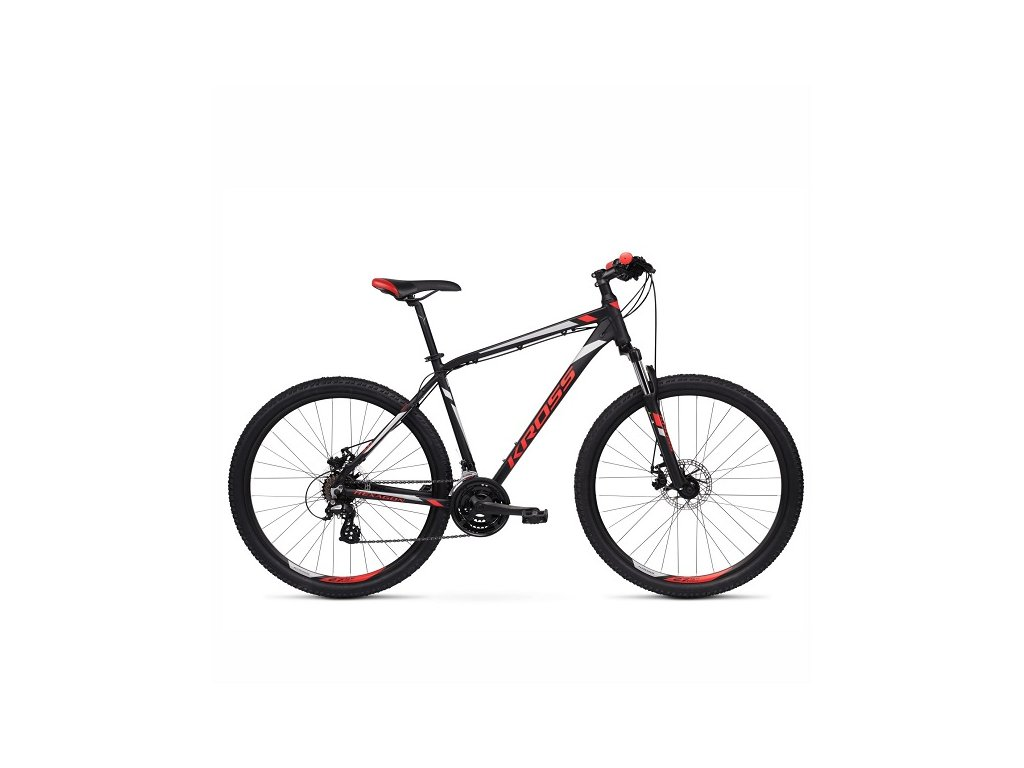 """Bicykel Kross Hexagon 3.0 26"""" black-red 2021"""