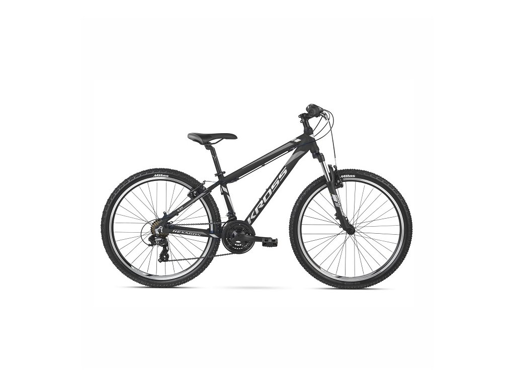 "Bicykel Kross Hexagon ZZ 26"" black-white 2021"