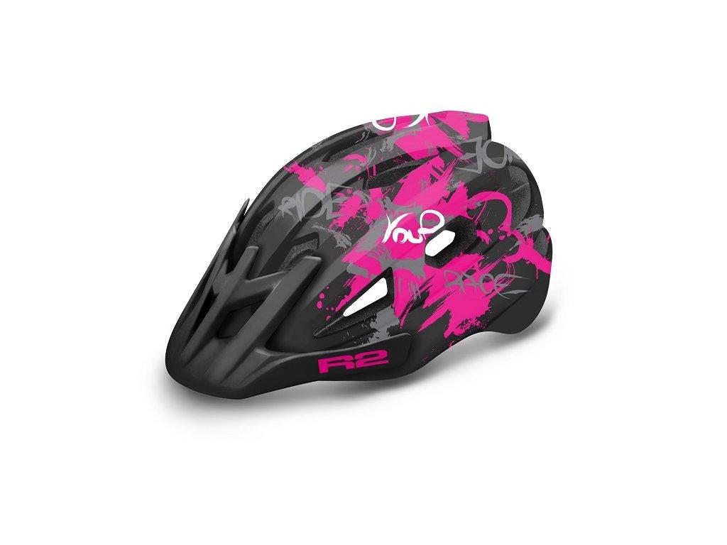 Prilba R2 Wheelie ATH23 black/pink 2021