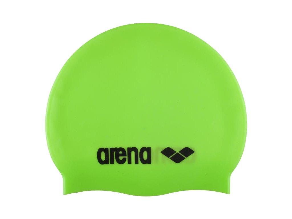 čiapka Arena Classic Silicone Cap zelena