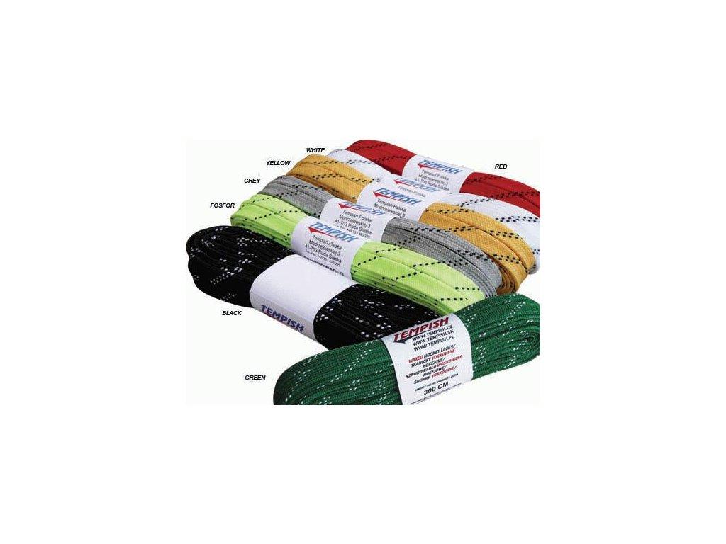 šnúrky Tempish hokejové voskované green