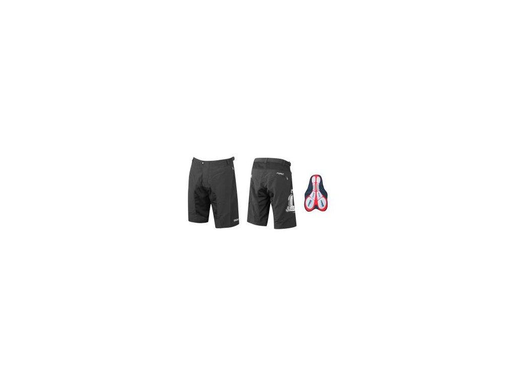 Nohavice FORCE MTB-11 s vložkou