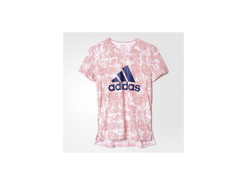 Tričko adidas AY8347 YG ESS AOP TEE