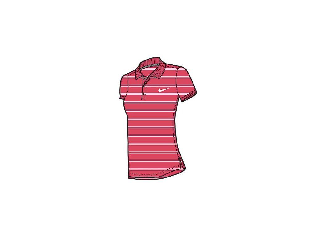 Tričko NIKE 639256 ADVANTAGE POLO-STRIPE