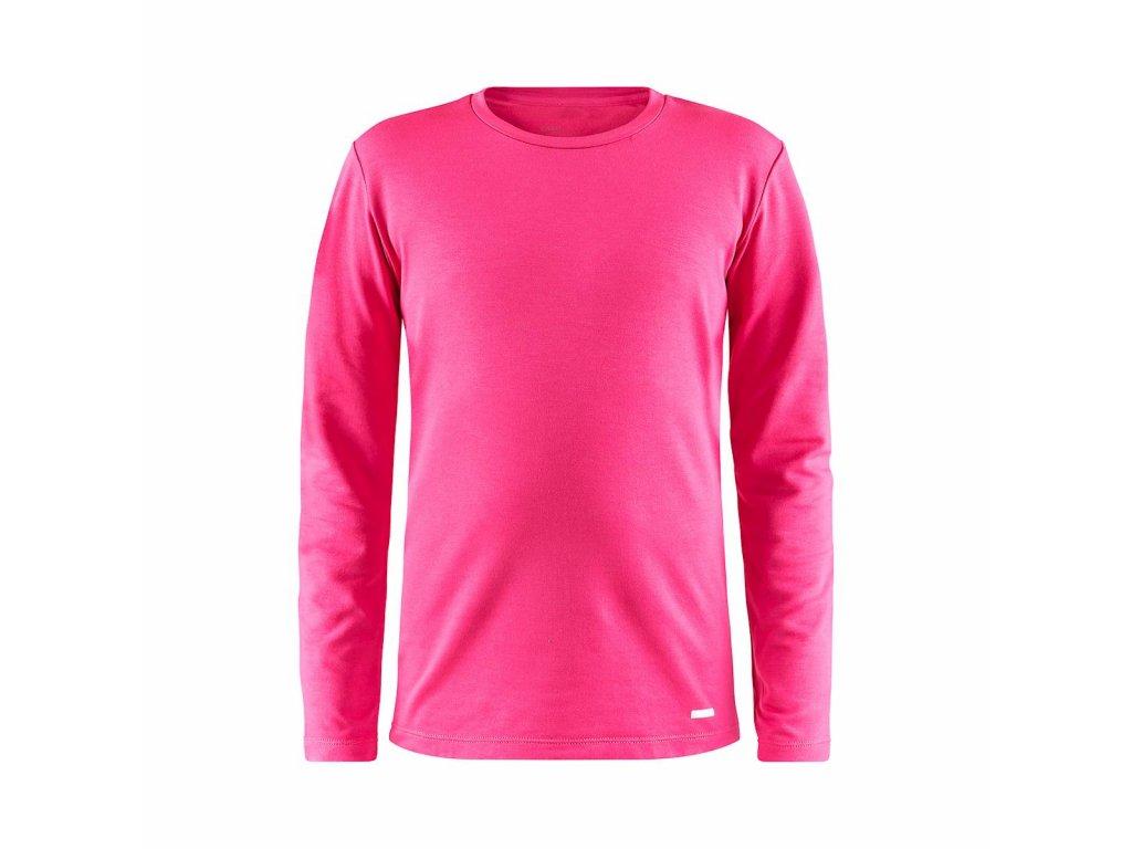 Tričko Craft 1906631 Essential Warm JR pink