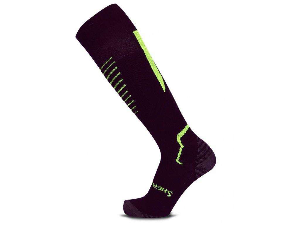 Ponožky SherpaX KompressoX-P black