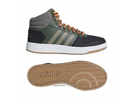 Obuv adidas B44614 HOOPS 2.0 MID