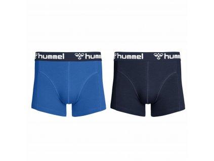 Boxerky Hummel 2 PACK BOXER blue/blue