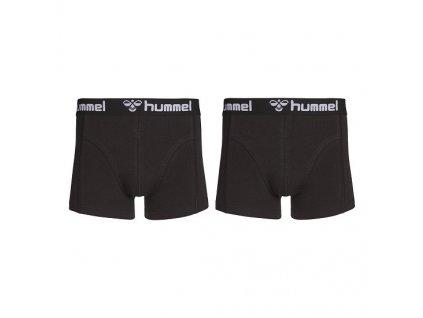 Boxerky Hummel 2 PACK BOXER black/black