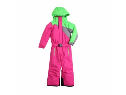 Overal STUF ROBIN pink/green