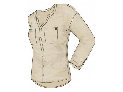 Tričko s dlhým rukavom DOLAN dám. 2