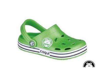 Sandále Coqui Froggy lime/white