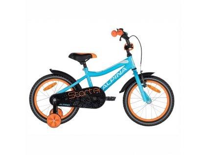 """Bicykel Alpina STARTER 16"""" blue orange 2021"""