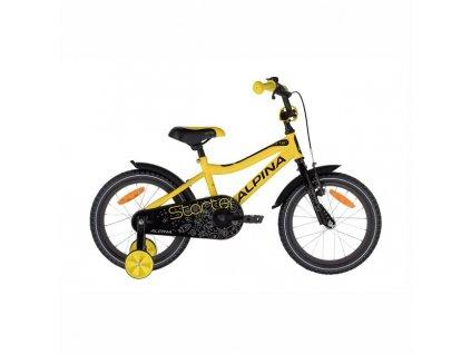 "Bicykel Alpina Starter 16"" yellow 2021"