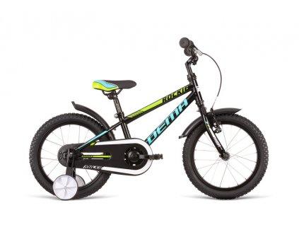 "Bicykel Dema Rockie 16"" black-blue 2020"