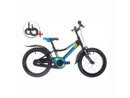 "Bicykel Kenzel LIME 16"" black 2021"