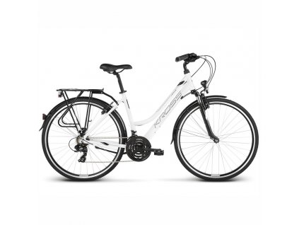 "Bicykel Kross Trans 1.0 D 28"" white 2021"