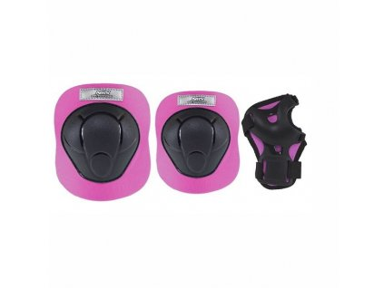 Chrániče NILS H210 black/pink