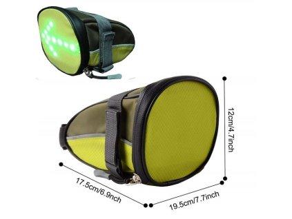 Bezepčnostná LED kapsa s dialk.ovládaním