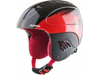 Prilba Alpina CARAT black/red 20/21