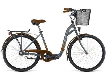 "Bicykel Dema Silence 26"" 3sp grey-brown 2021"
