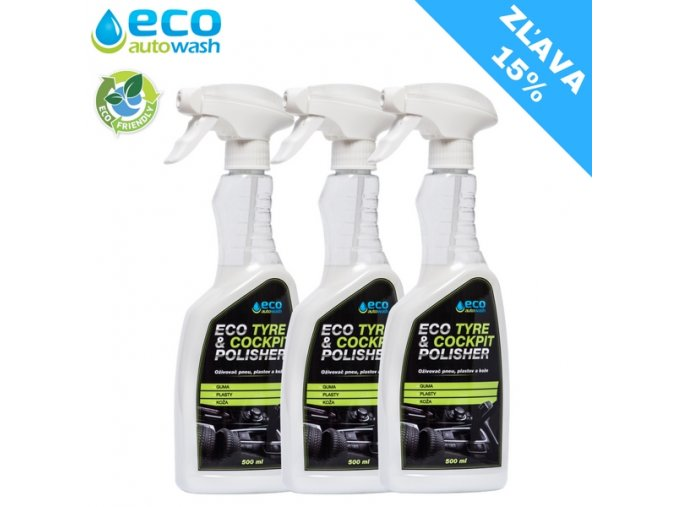 3X 500ml Eco Tyre&Cockpit polisher