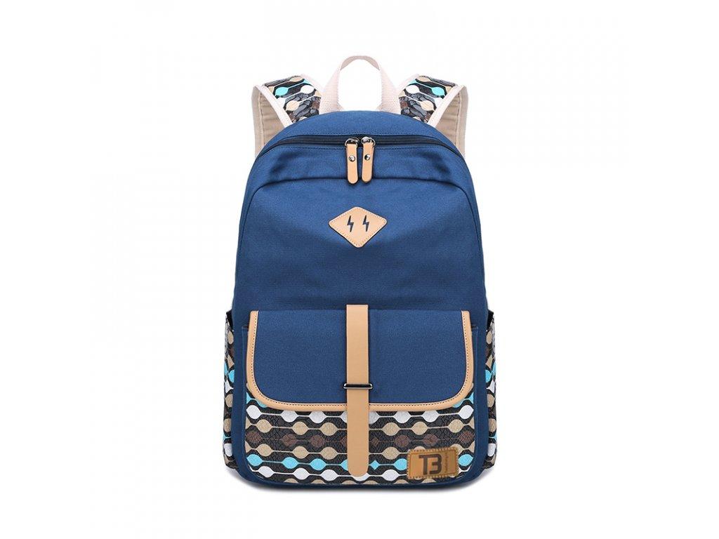 Dámský studentský batoh Canvas TopBags Balls - Blue - 19 l