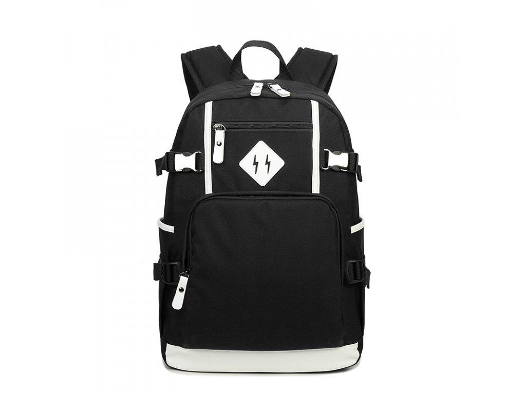 Školní batoh TopBags Leisure - Black 19 l