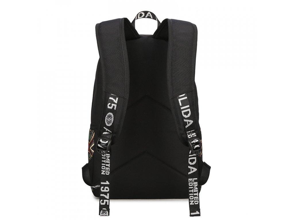 Dámský městský batoh Canvas TopBags Rugs Black 15 l