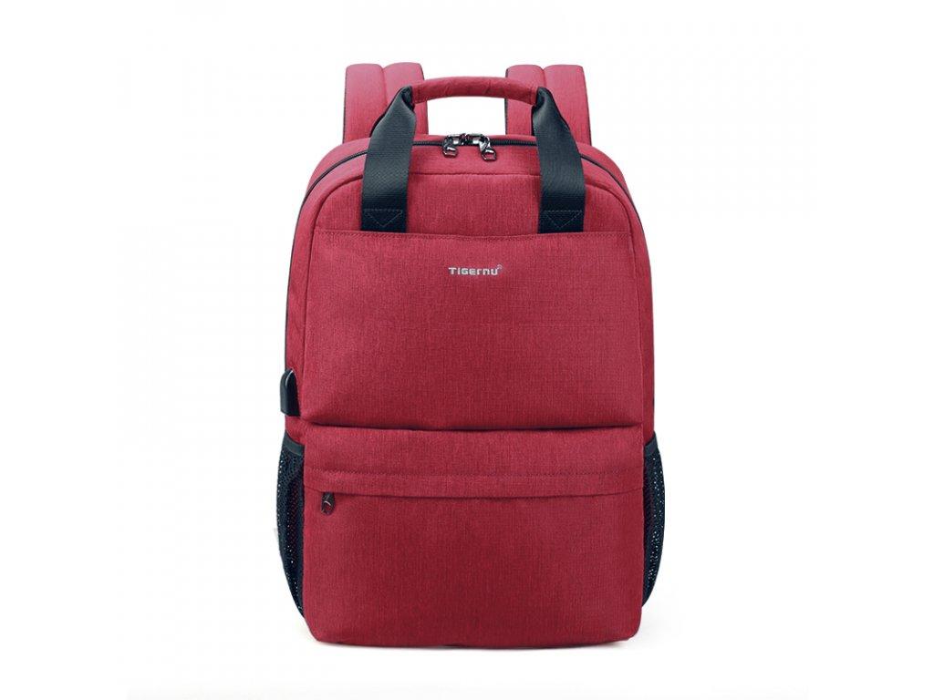 Dámský studentský batoh Tigernu 3508 Red 18l