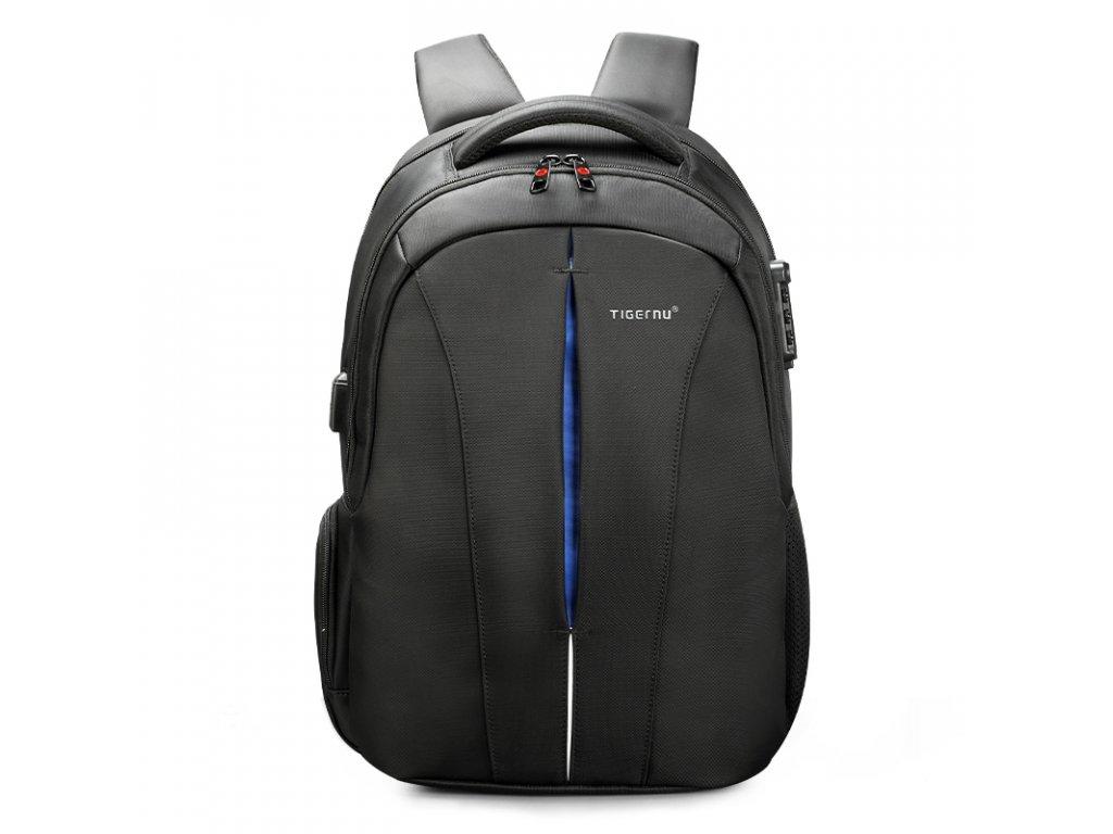 Pánský studentský batoh Tigernu 3105A Černo modrý 24l