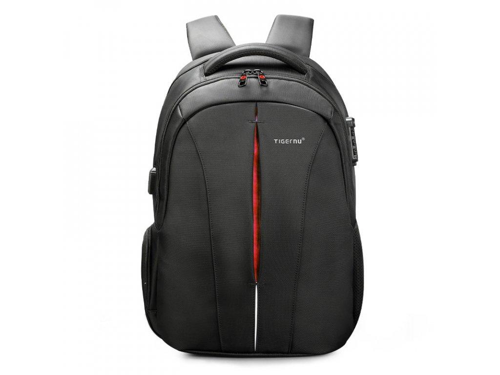 Unisex studentský batoh Tigernu 3105A Černo oranžový 24l