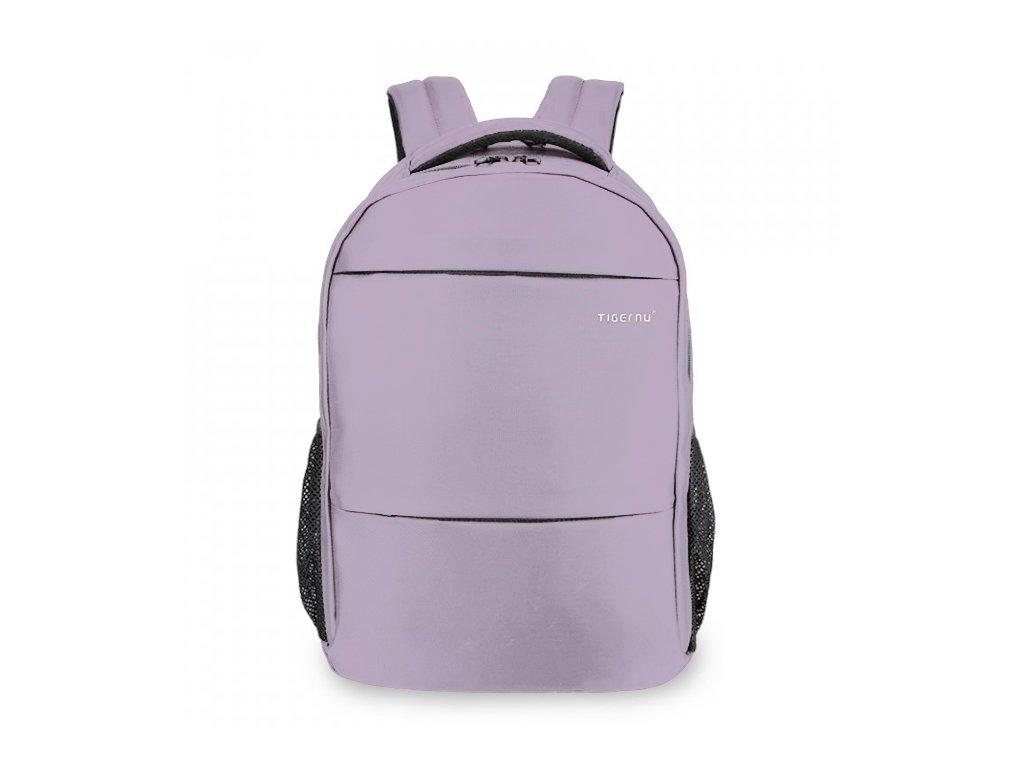 Dámský studentský batoh Tigernu 3032C Světle fialový 18 l