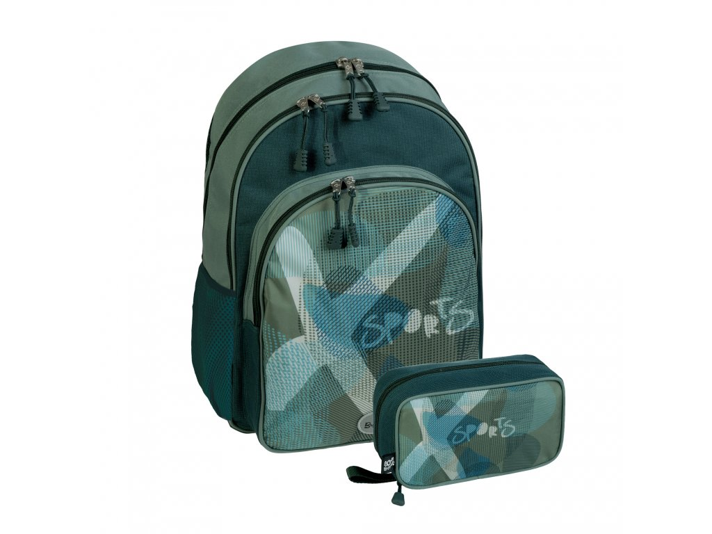 Chlapecká sada školní batoh+pouzdro Busquets Lighter XSport