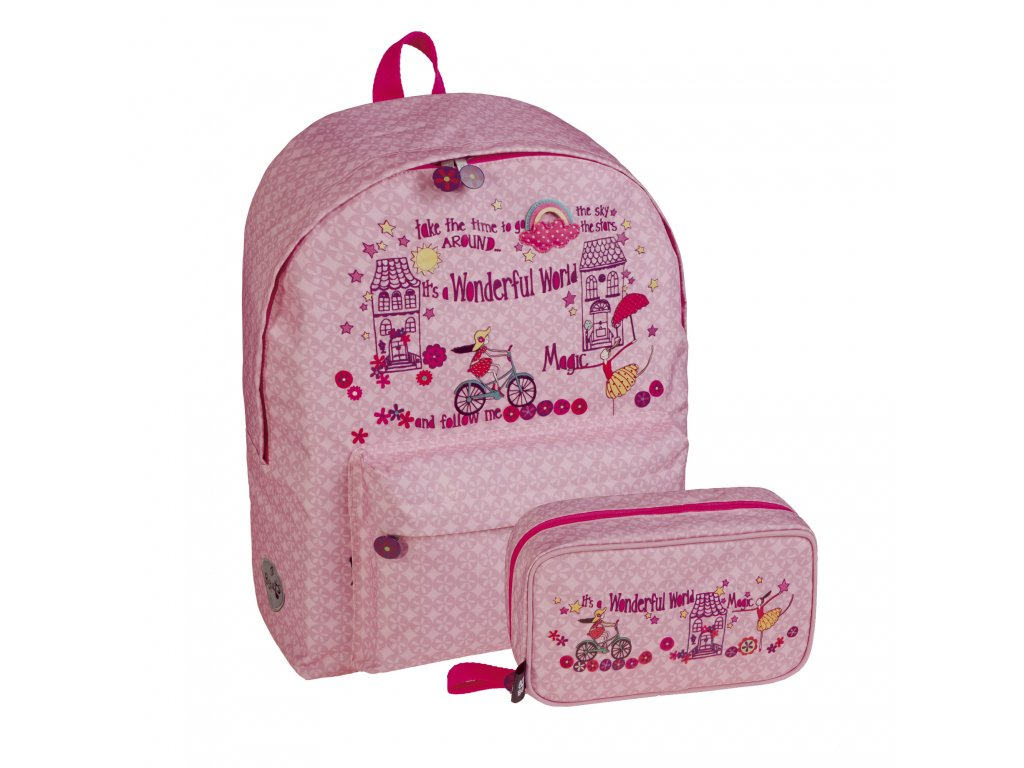 Dívčí sada školní batoh+pouzdro Busquets Magic