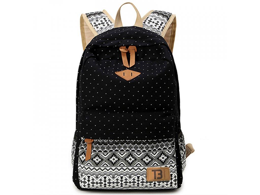459 batoh canvas topbags pattern cerny 16 l