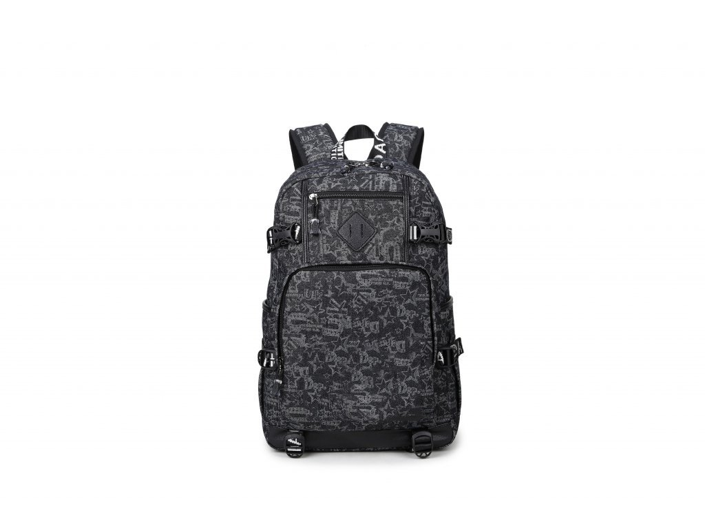 Pánský studentský batoh School TopBags - Black print 21 l