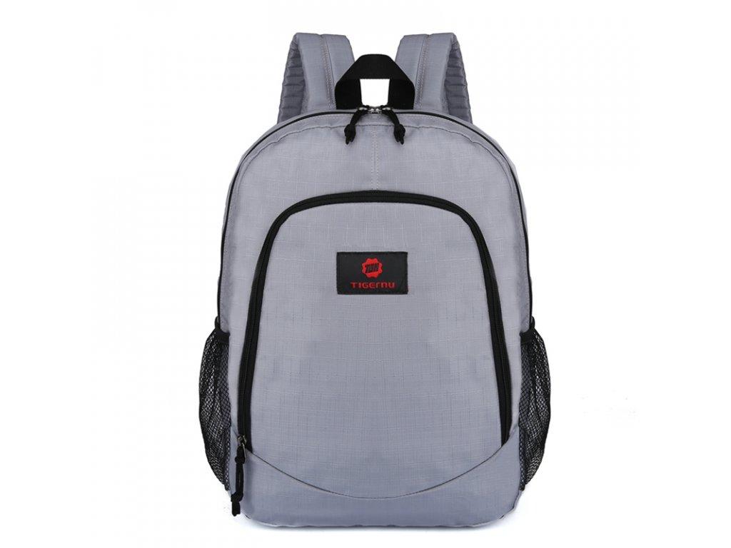 Unisex studentský batoh Tigernu 3200 Šedý - Top Batohy.cz 2f61979dee