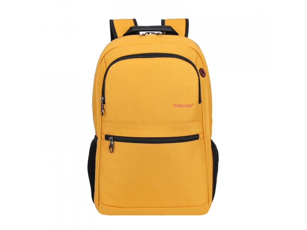 Unisex studentský batoh Tigernu 3092 Žlutý - Top Batohy.cz 896b172262