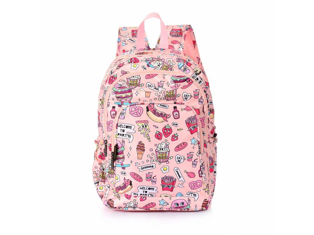 Dívčí školní batoh TopBags ViVi  - Růžový 14 l