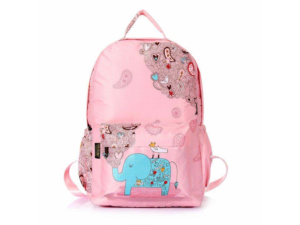 Dívčí školní batoh TopBags ViVi-Ele  - Růžový 15 l