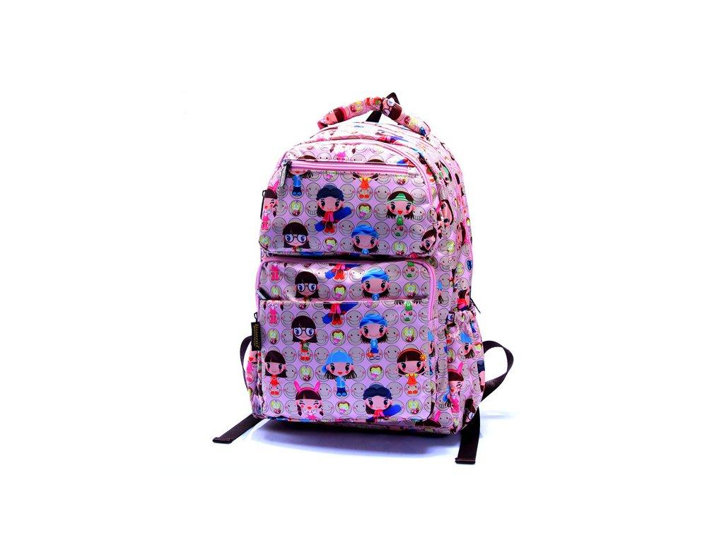 Dívčí školní batoh TopBags ViVi-Square - Růžový 22 l