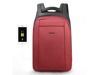 Dámský městský batoh Tigernu 3599 Wine red 21l